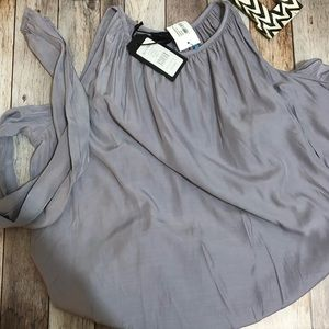 NWT Silky Cold Shoulder Top